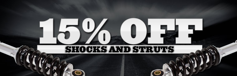 Take 15% off shocks and struts. Click here for a coupon.