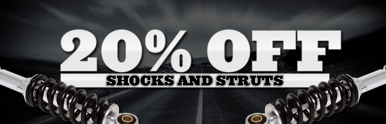 Take 20% off shocks and struts. Click here for a coupon.