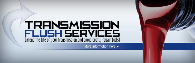 Take advantage of our transmission flush services and extend the life of your transmission and avoid costly repair bills! Click here for more information.