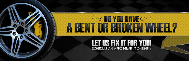Do you have a bent or broken wheel? Let us fix it for you! Click here to schedule an appointment online.