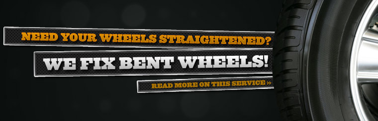 Need your wheels straightened? We fix bent wheels! Click here to read more on this service.