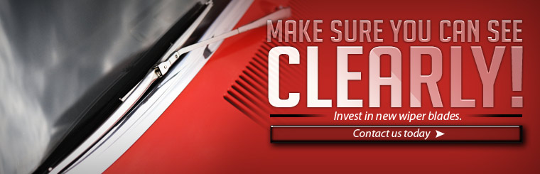 Make sure you can see clearly! Invest in new wiper blades. Click here to contact us today.