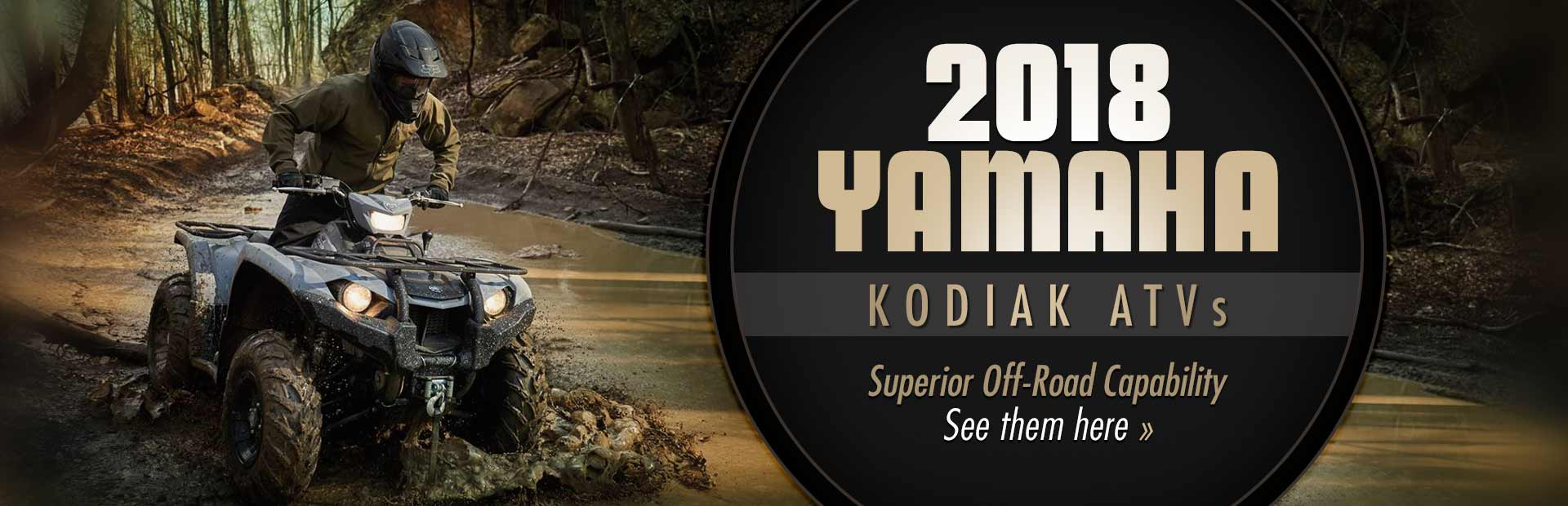 2018 Yamaha Kodiak ATVs: Click here to view the models.