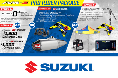 RM-Z Pro Rider Package