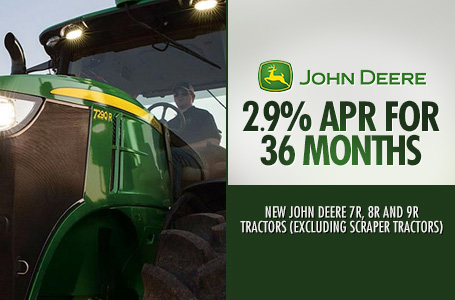 2.9% APR for 36 Months (7R, 8R and 9R Tractors)