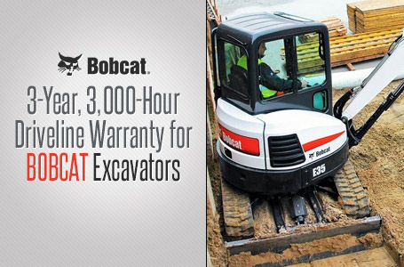 3-Year 3000-Hour Driveline Warranty for Excavators