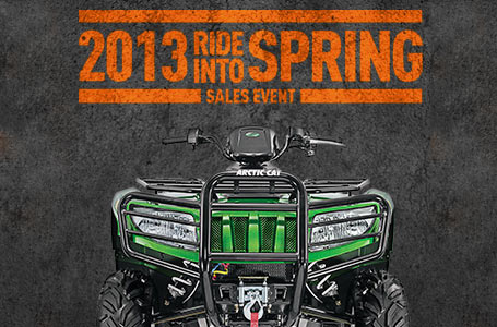 Arctic Cat - Ride Into Spring Sales Event - ATV