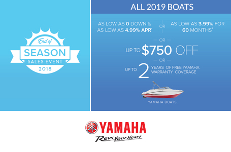 End of Season Sales Event - All 2019 Boats