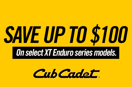 SAVE UP TO $100 ON SELECT XT ENDURO SERIES MODELS