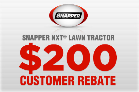 promotion for Snapper, Snapper NXT® Lawn Tractor $200 Customer Rebate