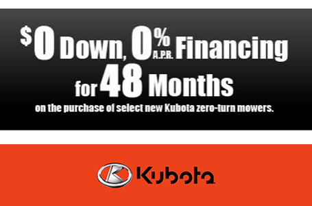 $0 Down, 0% APR Financing for 48 Months