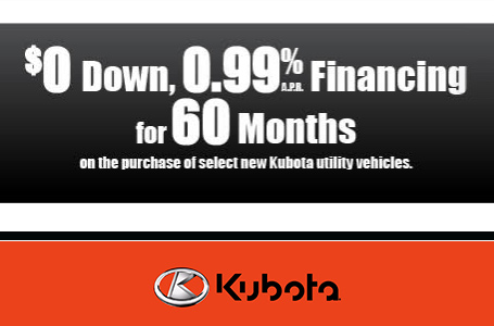 $0 Down, 0.99% APR Financing for 60 Months