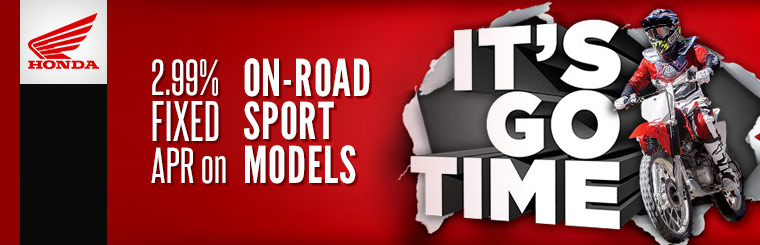 2.99% Fixed APR on On-Road Sport Models