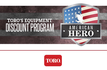 Toro's Equipment Discount Program