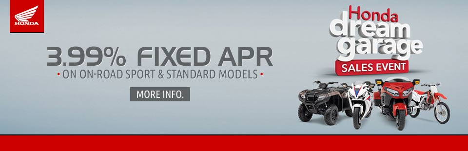 3.99% Fixed APR on On-Road Sport & Standard Models