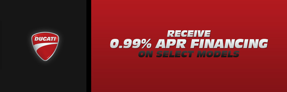 Receive 0.99% APR Financing on Select Models