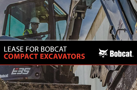 Lease For Bobcat Compact Excavators