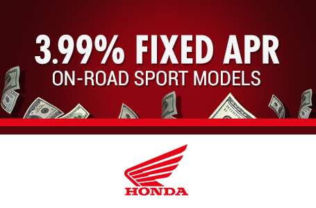 3.99% Fixed APR On-Road Sport Models