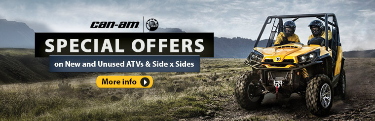 Special Offers on Can-Am Side-by-Sides & ATVs