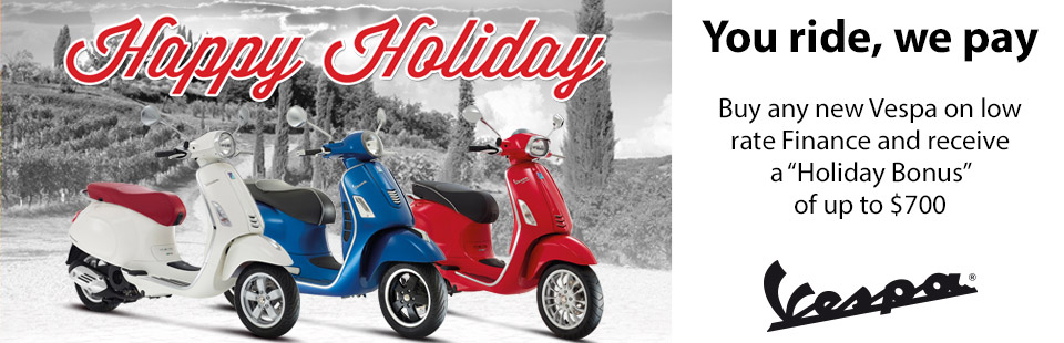 Have a Happy Holiday with Vespa