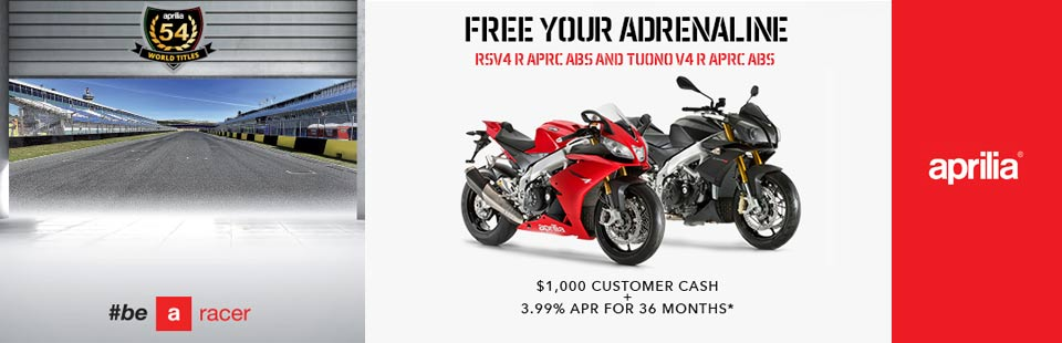RSV4 and Tuono V4 Summer Promotion