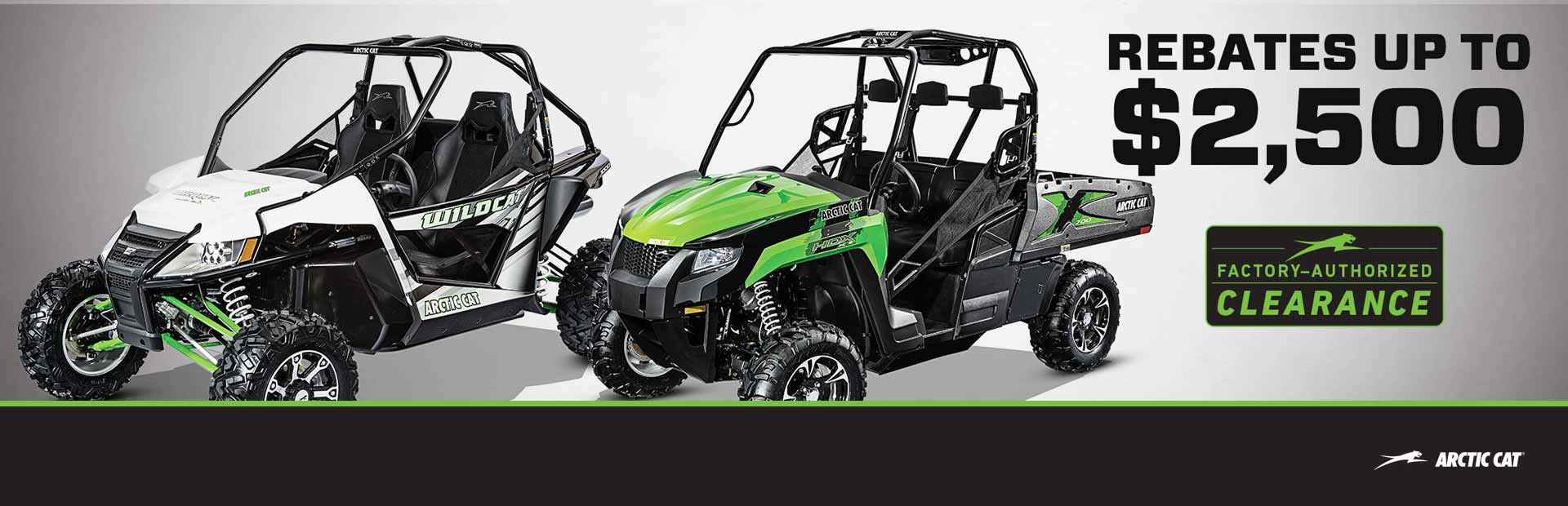 Arctic Cat: Factory Authorized Clearance on Side by Sides