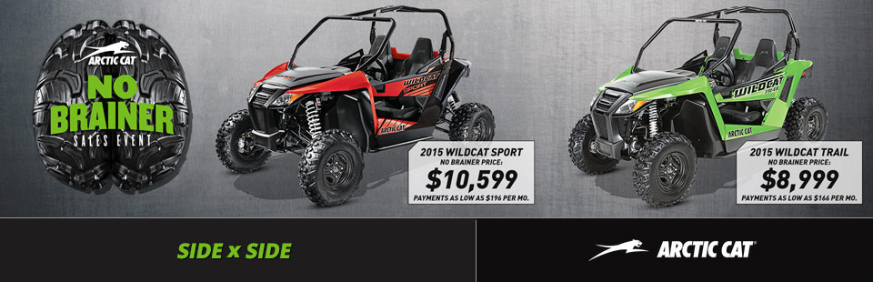 Arctic Cat: No Brainer Sales Event (Side x Side)