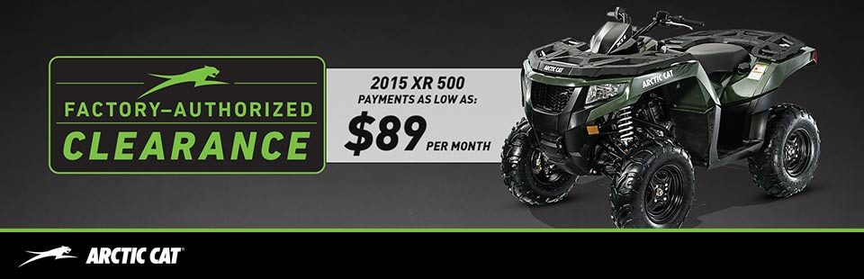 Factory Authorized Clearance - ATV