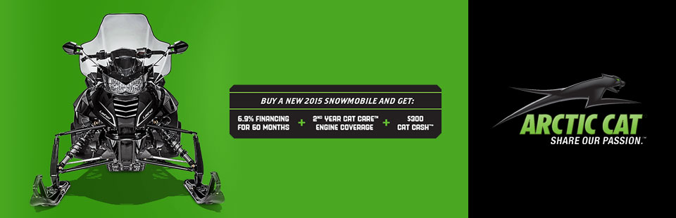 6.9% Financing on a New 2015 Snowmobile