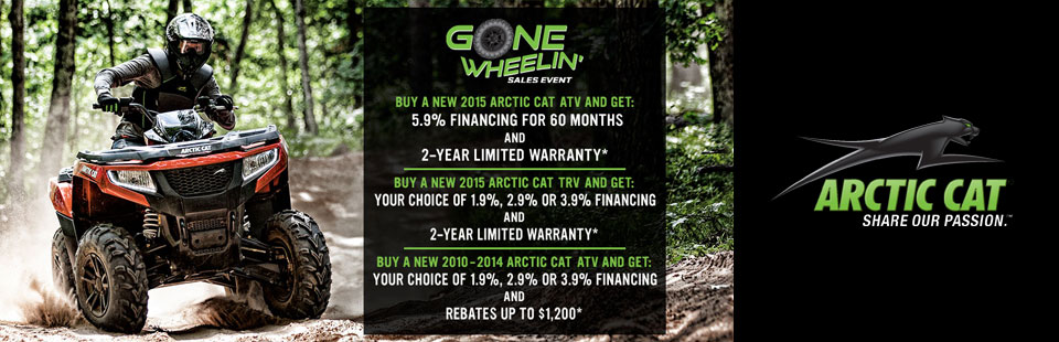 Gone Wheelin' Sales Event - ATV