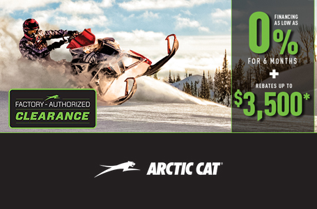 Factory Authorized Clearance on Snowmobiles