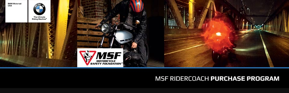 BMW: MSF RiderCoach Purchase Program