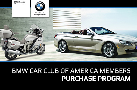 BMW Car Club of America Members Purchase Program