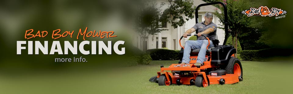 Bad Boy Mower Financing