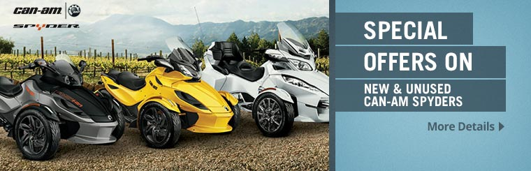 Special Offers on New Can-Am® Spyders®