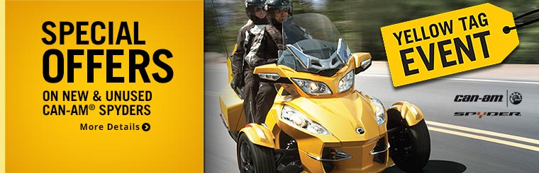Offers on New & Unused 2013 Can-Am® Spyders