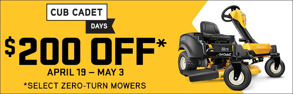 Cub Cadet: $200 Off Select Residential Zero Turn Mowers