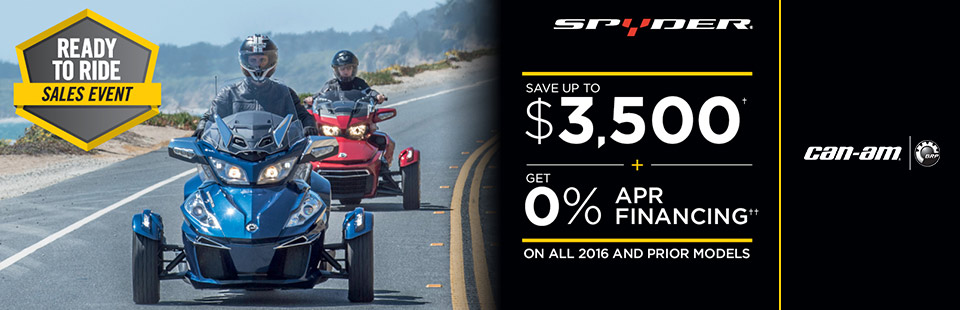 Can-Am: Ready To Ride Sales Event