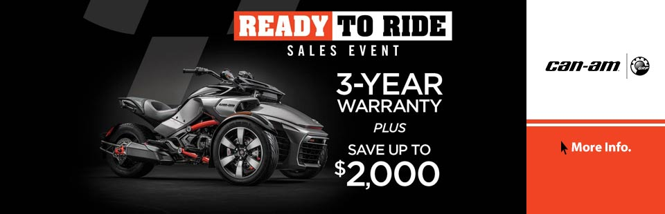 Ready to Ride Sales Event (Spyder)