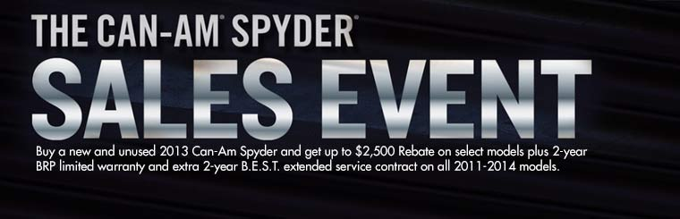 Offers on New & Unused Can-Am® Spyders®