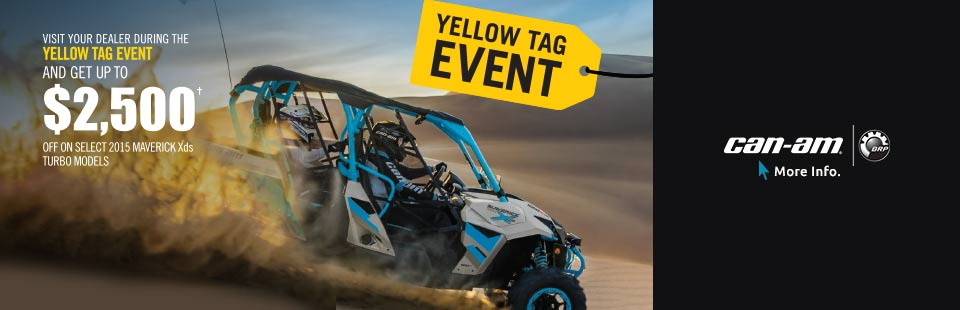 YELLOW TAG EVENT AND GET UP TO  $2,500 OFF