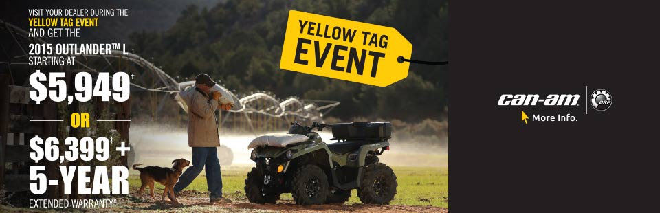 YELLOW TAG EVENT-GET THE 2015 OUTLANDER™ L