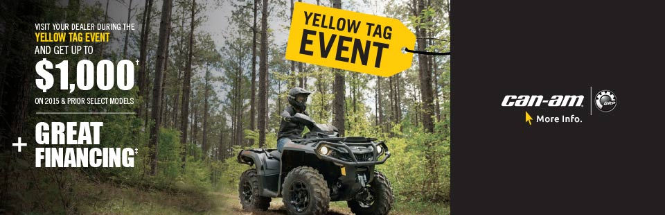 Yellow Tag Event-Get up to $1000 on 2015 and Prior