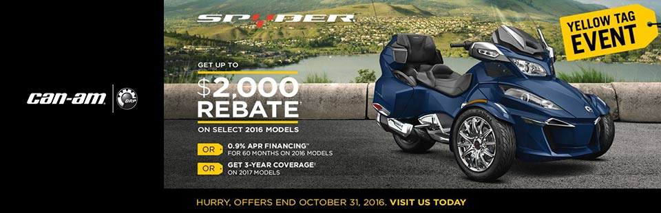Yellow Tag Event: Spyder $2,000 Rebate