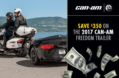 Save $350 On The 2017 Can-Am Freedom Trailer