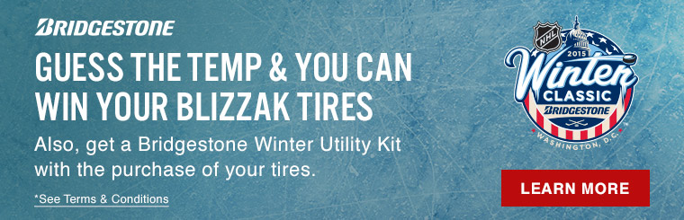 Guess the Temp and You Can Win Your Blizzak Tires