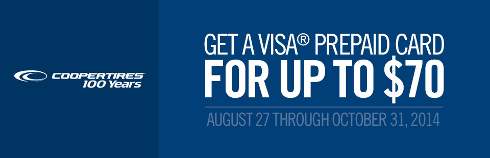 Get a Visa® Prepaid Card for up to $70