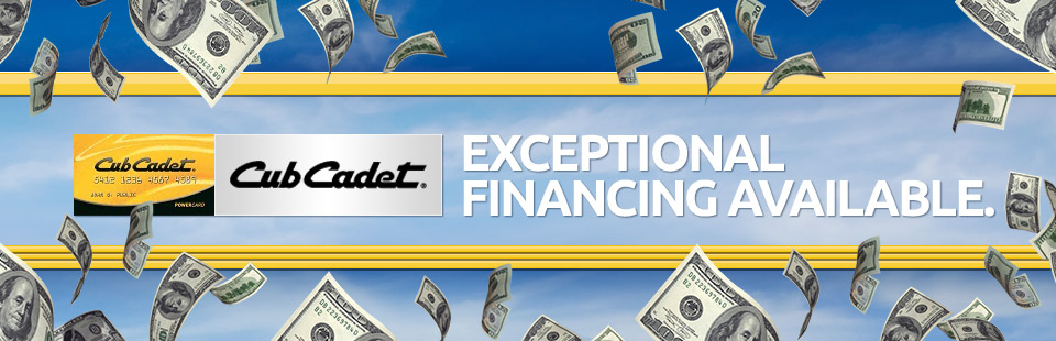 Exceptional Financing Available
