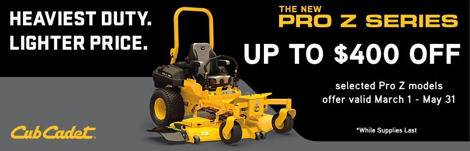 Cub Cadet: Save Up To $400 On Select Pro Z Series Mowers