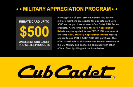 MILITARY MEMBERS ELIGIBLE FOR REBATE UP TO $500